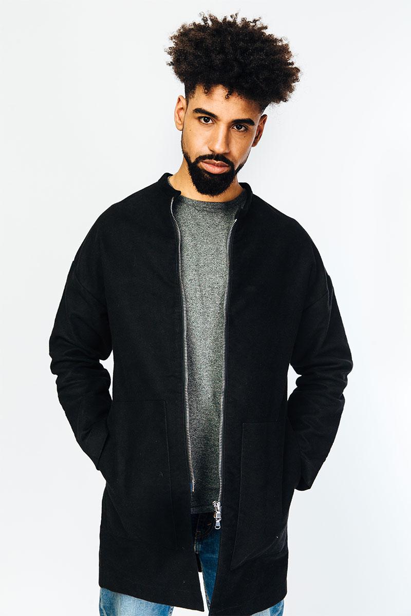 Coat NILS, black from MYRKA studios
