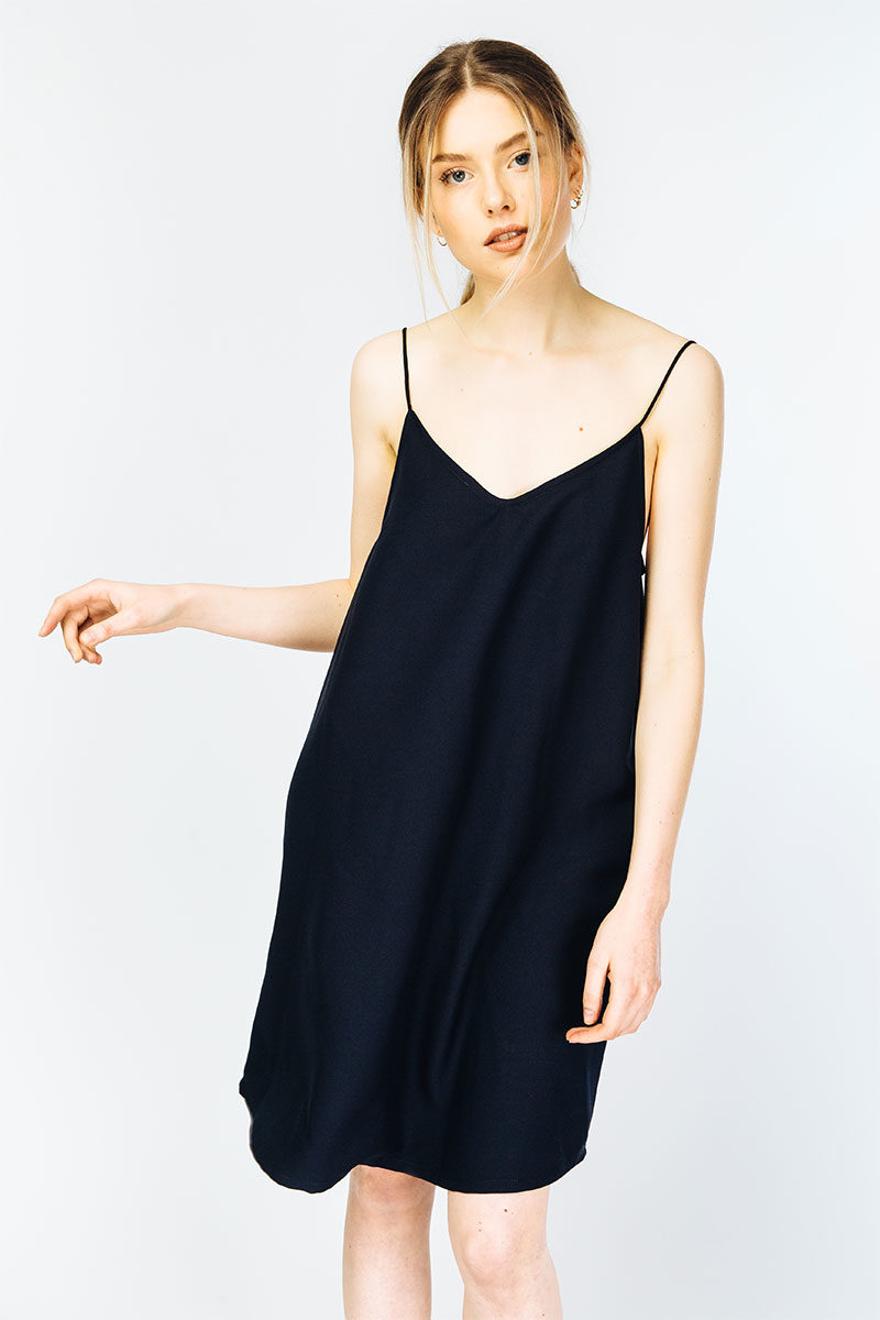 myrka-recycled-polyester-slip-dress-black